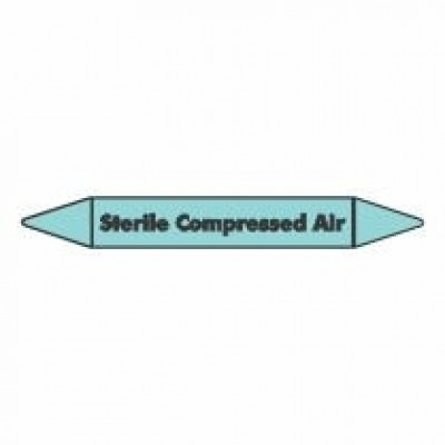 Sterile Compressed Air Pipe Marker self adhesive vinyl code PMCa20a