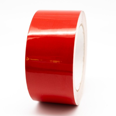 Traffic Red External Pipe Identification Tape 50mm wide - RAL 3020 - R M Labels - EXD259C50