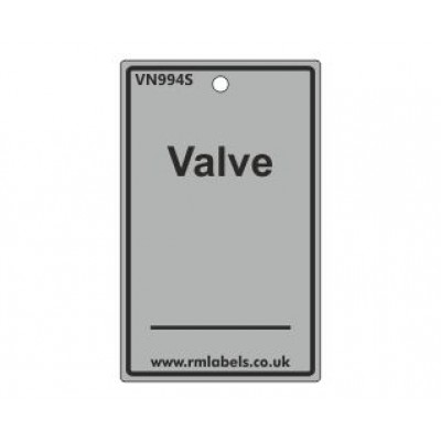 Valve Label in grey Code VN994S