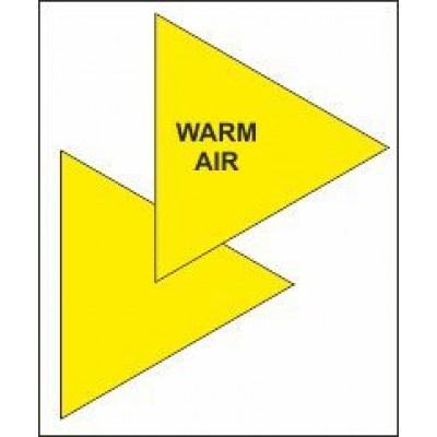 Warm Air Triangle for Air Conditioning Ductwork AC008