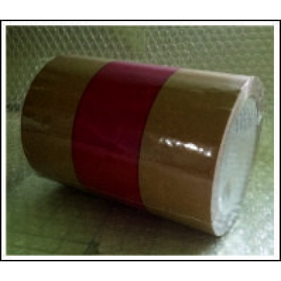 Yellow Ochre and Red Banded Pipe Identification Tape 150mm ID500C150