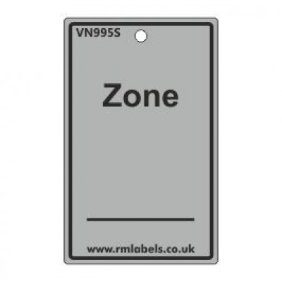 Zone Label in grey Code VN995S