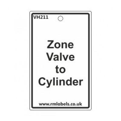 Zone Valve to Cylinder Label Code VH211