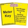 Meter Key Label and your details on reverse Code VG352A