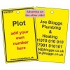 Plot Label in yellow and your details on reverse Code VN993YA