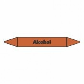 Alcohol Pipe Marker self adhesive vinyl code PMO07a