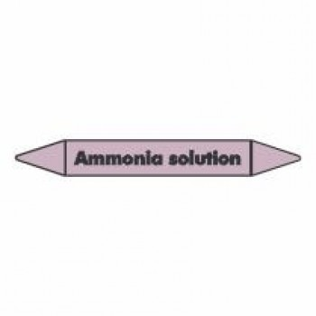 Ammonia Solution Pipe Marker self adhesive vinyl code PMAc08a