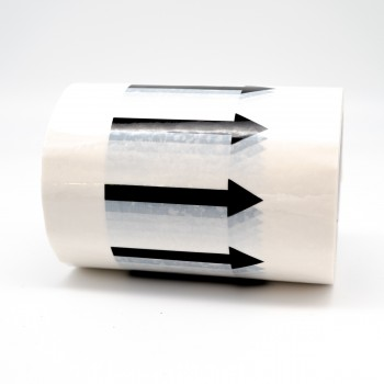 Arrows Pipe Identification Tape (White) 150mm wide - R M Labels - ID111A150W