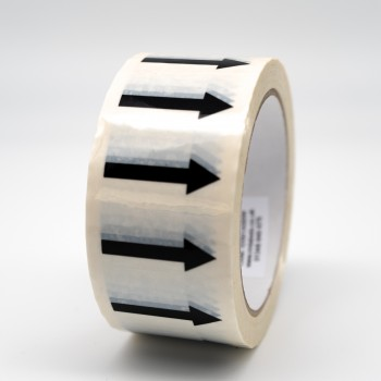 Arrows Pipe Identification Tape - White - R M Labels - ID001A50W