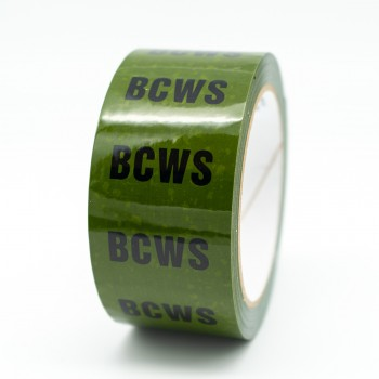 BCWS Pipe Identification Tape for Boosted Cold Water Supply / Service - Green 12-D-45 - R M Labels - ID144T50G