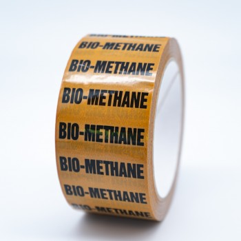 Bio Methane Pipe Identification Tape - R M Labels - ID227T50YO