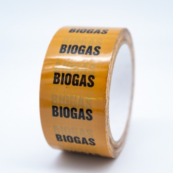 Biogas Pipe Identification Tape - R M Labels - ID127T50YO