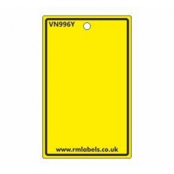 Blank Label in yellow Code VN996Y