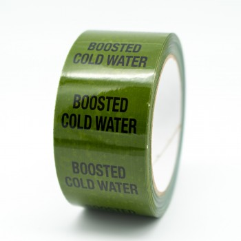 Boosted Cold Water Pipe Identification Tape - Green 12-D-45 - R M Labels - ID169T50G