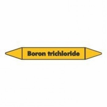 Boron Trichloride Pipe Marker self adhesive vinyl code PMG06a