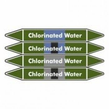 Chlorinated Water Pipe Marker self adhesive vinyl code PMW07a