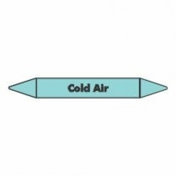 Cold Air Pipe Marker self adhesive vinyl code PMCa03a