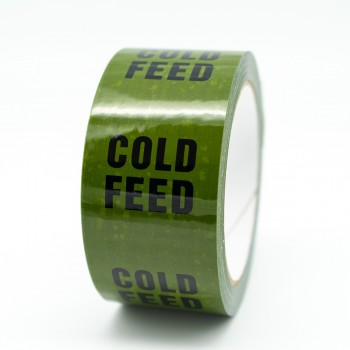 Cold Feed Pipe Identification Tape - Green 12-D-45 - R M Labels - ID147T50G