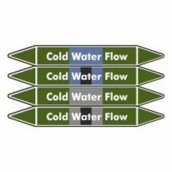 Cold Water Flow Pipe Marker self adhesive vinyl code PMW11a