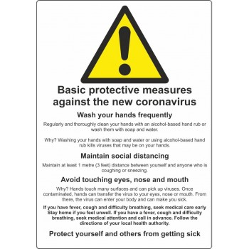 Coronavirus Protective Measures A4 Sign - R M Labels