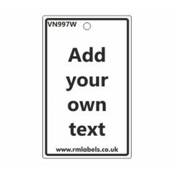 Add Your Own Text Label Code VN997