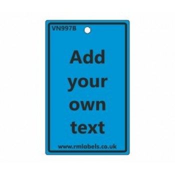 Add Your Own Text Label in blue Code VN997B