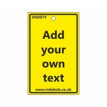 Add Your Own Text Label in yellow Code VN997Y