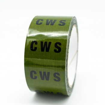 CWS Pipe Identification Tape for Cold Water Supply / Service - Green 12-D-45 - R M Labels - ID151T50G