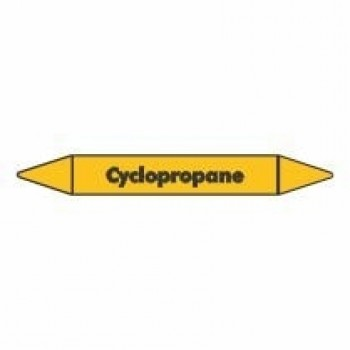 Cyclopropane Pipe Marker self adhesive vinyl code PMG24a