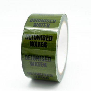 Deionised Water Pipe Identification Tape - Green 12-D-45 - R M Labels - ID155T50G