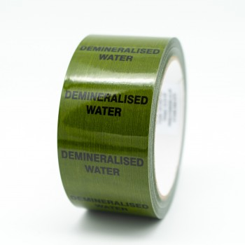 Demineralised Water Pipe Identification Tape - Green 12-D-45 - R M Labels - ID148T50G