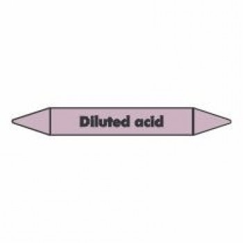 Diluted Acid Pipe Marker self adhesive vinyl code PMAc20a