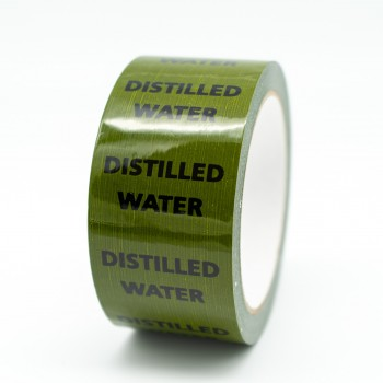 Distilled Water Pipe Identification Tape - Green 12-D-45 - R M Labels - ID149T50G