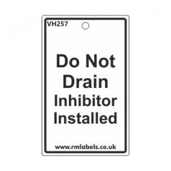 Do Not Drain Label Code VH257