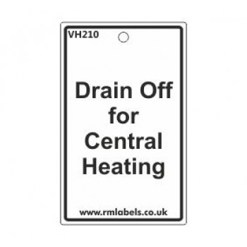 Drain Off for Central Heating Label Code VH210