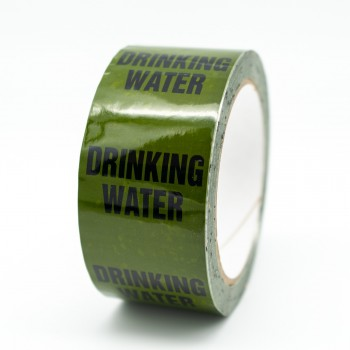 Drinking Water Pipe Identification Tape - Green 12-D-45 - R M Labels - ID157T50G
