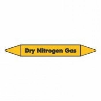 Dry Nitrogen Gas Pipe Marker self adhesive vinyl code PMG28a