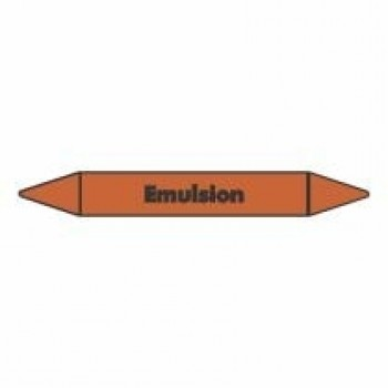 Emulsion Pipe Marker self adhesive vinyl code PMO22a