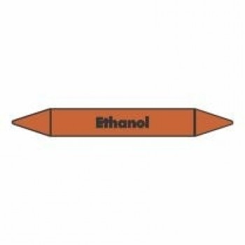 Ethanol Pipe Marker self adhesive vinyl code PMO24a