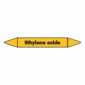 Ethylene Oxide Pipe Marker self adhesive vinyl code PMG32a