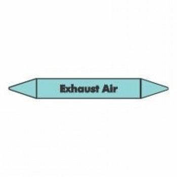 Exhaust Air Pipe Marker self adhesive vinyl code PMCa08