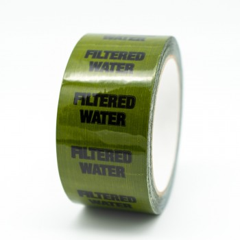 Filtered Water Pipe Identification Tape - Green 12-D-45 - R M Labels - ID241T50G