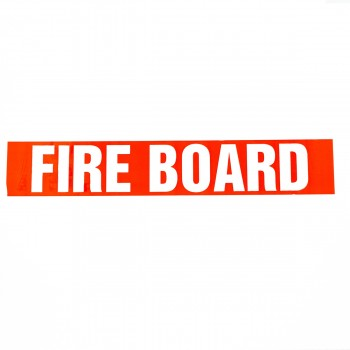 Fire Board self adhesive acrylic tape for marking Plasterboards - R M Labels