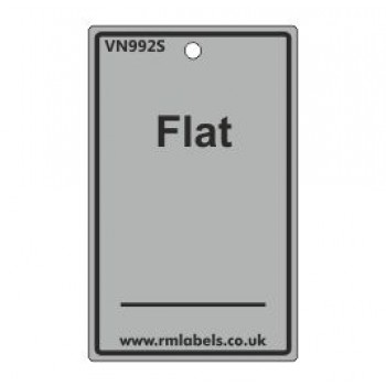 Flat Label in grey Code VN992S