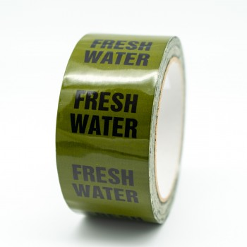 Fresh Water Pipe Identification Tape - Green 12-D-45 - R M Labels - ID158T50G