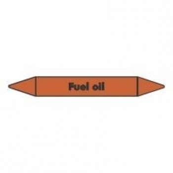 Fuel Oil Pipe Marker self adhesive vinyl code PMO33a