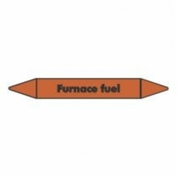 Furnace Fuel Pipe Marker self adhesive vinyl code PMO35a