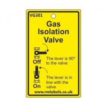 Gas Isolation Valve Label Code VG301