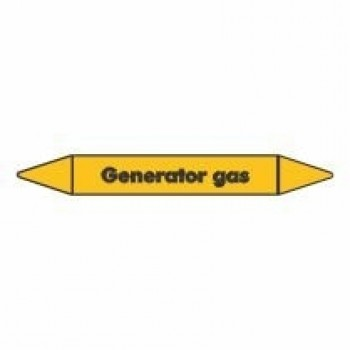 Generator Gas Pipe Marker self adhesive vinyl code PMG42a
