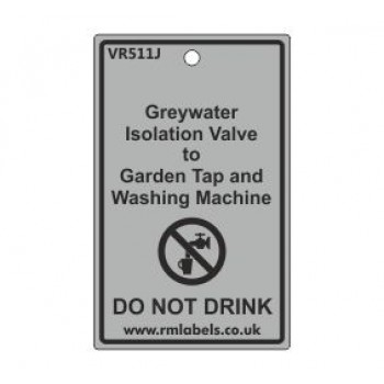 Greywater Isolation Valve to Garden Tap and Washing Machine Label Code VR511J